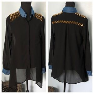 The Clothing Company• Studded Top